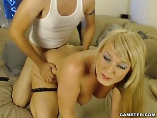 Sexy Blonde MILF Camgirl Fucks Her Boyfriend on Camster.com