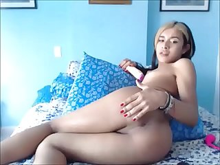 Latina Teen Tranny Playing with her Asshole