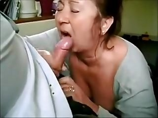 Mature bitch swallow cum