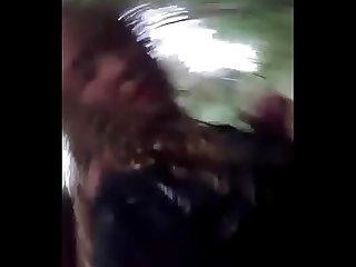 Pendeja Puta se graba cuando el novio le rompe el Culo en el campo slut teen