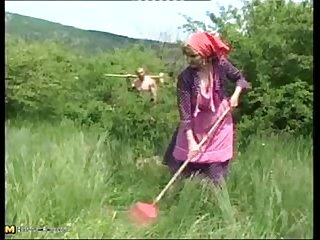 Granny marianne is fucked in countryside