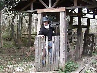 Latino hunk Cowboys give blowjobs before ass pounding