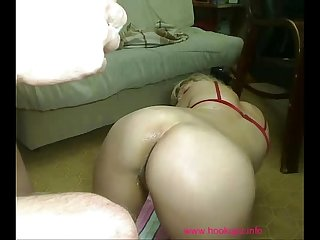 Horny couple having some fisting fun