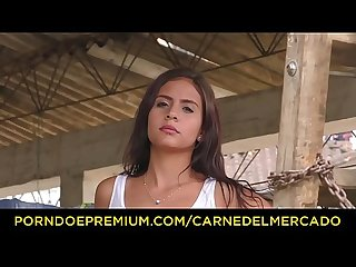 Carne del mercado colombian teen bimbo evelin suarez fucks large cock