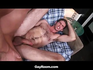 Hunk jimmy fanz gets rimmed and fucked