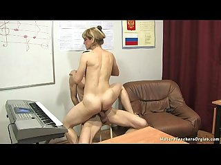 Russian mature teacher 10 elise piano lesson