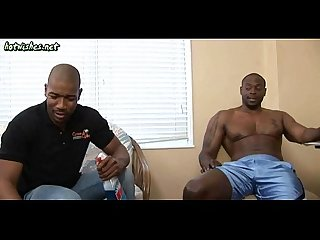 Black gays sucking and having anal sex