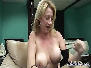 This slut feels horny