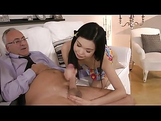 Old man and a sexy asian girl 18sexbox com