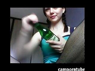 Bottle insertion on webcam