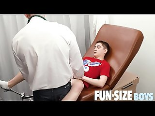 FunSizeBoys - Tiny smooth twink fucked by older doctor during exam