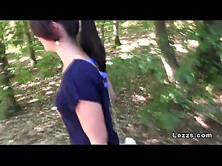 European three lesbians oral sex beside lake