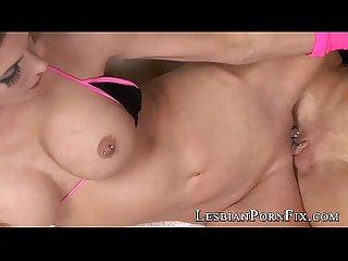 Big tit lesbo fucking