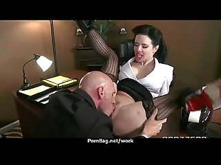 Big tits cutie fucks her coworker in their office 2