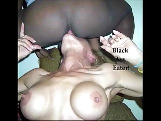 Husband records wife eating black ass