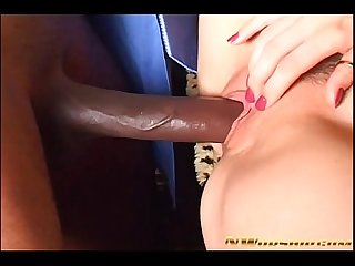 sexy blonde with juicy anal hole interracial sex