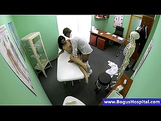 Real doctor lets patient ride his cock