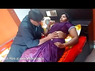 Horny bhabhi boobs press and navel licking hot scene