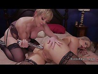 Lesbian girlfriends doing anal sex