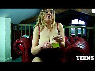 Sapphire sexy smoking masturbation