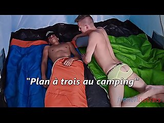 Three 18 years french twinks fucking in a camping tent