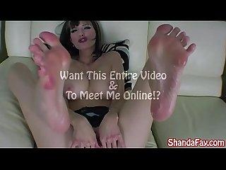 Kinky canadian Milf shanda fay gives sexy footjob