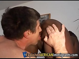 White guy exploits African girl's slitdeutschen-familien-1-3