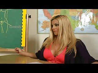 Excited busty teacher