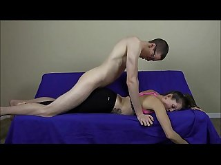 Yoga slut lelu love has a hole in her pants for your cock