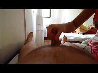 POV Handjob Cumming All Over Himself