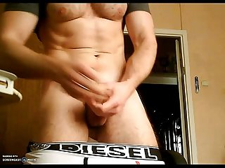 Gay hunk muscle strip jerking
