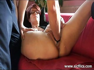 The slave is brutally fisted by her master