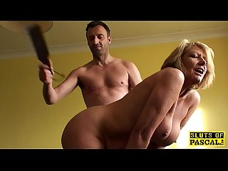 Bigtitted mature sub lady spanked and fucked