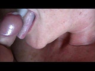 Amateur granny closeup blowjob