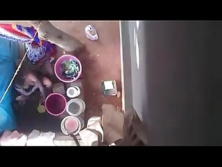 Aunty bath hidden cam