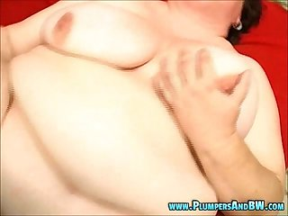 Fat abigail gets her pussy pumped hard