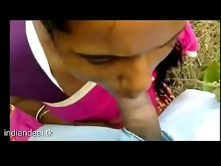 Hot indian blowjob outdoor