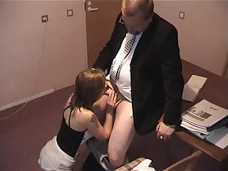 Old boss and a young secretary