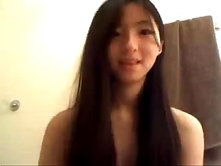 Cute skinny 18 year old Asian Girl hot masturbating camgirlcumclub com