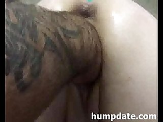 Horny wife gets her pussy fisted from behind