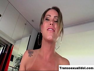 Beautiful TS Rakel jerking off to orgasm