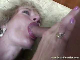 Old dutch whore abused fuck