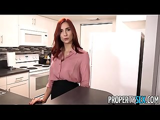 PropertySex - Hot redhead real estate agent fucks new boss