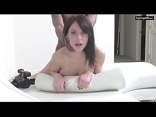 Gabby spreads to take huge black cock doggystyle at rap Video casting period
