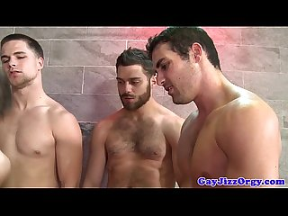 Shower orgy with tommy defendi and pals