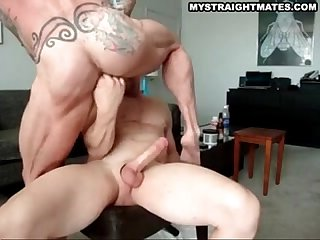 muscle man riding big hot beefy muscle stud