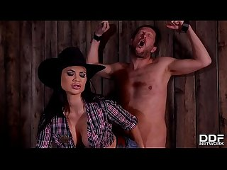 Dominant sheriff Jasmine jae spanks interrogates defenseless prisoner