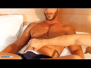 Aymeric a very sexy muscle guy get wanked his huge cock by me