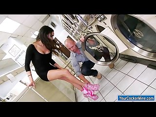 Ts Madison Montag gets her dick sucked and analed by laundryguy