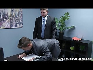 Gaysex boss spanks and fucks twink assistant